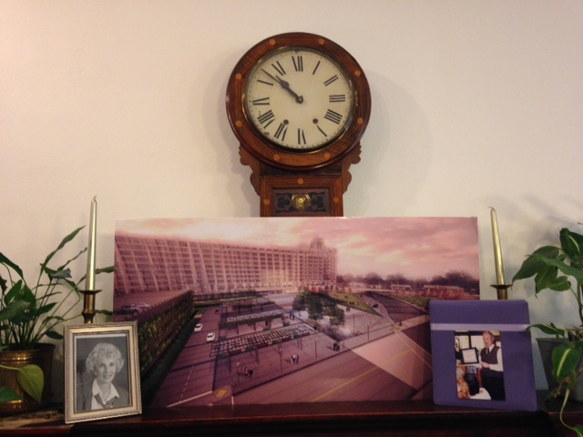 Jean's clock is now accompanied by a Crosstown Concourse rendering. The past and the future are coupled together.