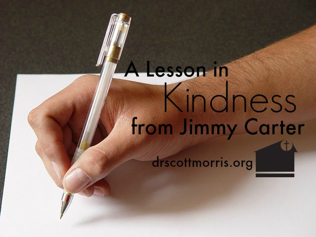 A Lesson in Kindness from Jimmy Carter