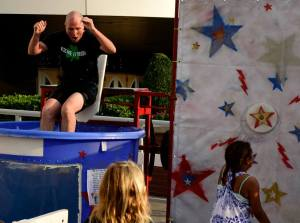 I took a cool splash in the dunk tank at Rock for Love this year. It's a pretty refreshing way to raise funds for the Center!